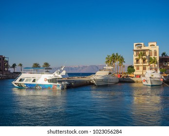 Tourist resort in Aqaba Jordan where all the ferries from Egypt land