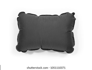 tourist self inflating pillow - inflated version - isolated on white - Shutterstock ID 1051110371