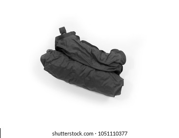 tourist self inflating pillow - not inflated version - isolated on white
