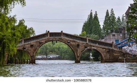Tourist sight while cruising the Grand Canal in Wuxi, Jiangsu, China