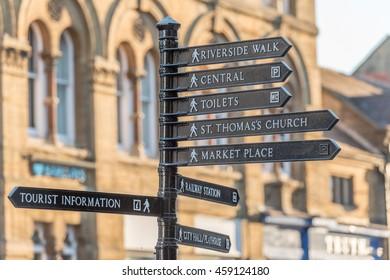 Tourist sign Salisbury Wiltshire England
