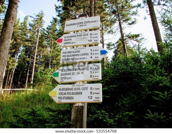 Tourist signs.