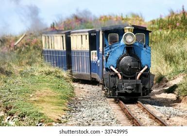 Tourist steam train near Barmouth, Wales