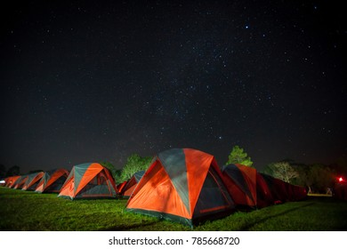 Tourist Tent camping, Camping tent with Milky way