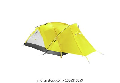 tourist tent isolated on a white backgrouynd
