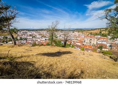 Tourist town of Aracena. Province of Huelva. Spain