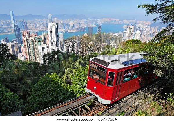 Touristenbahn am Peak, Hongkong