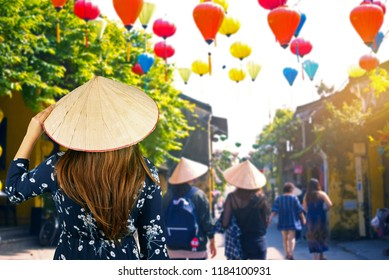 Tourist is traveling at Hoi An, Vietnam.