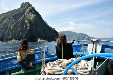 Tourist trip on board fishing boat by the Cape Ortegal, tpeace, calm, serenity, harmony, fullness, well-being, nature, natural, contemplate, meditate, breathe, grow,happiness,tranquility, fulfillment,