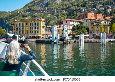 Tourist in Varenna ( Lake Como )