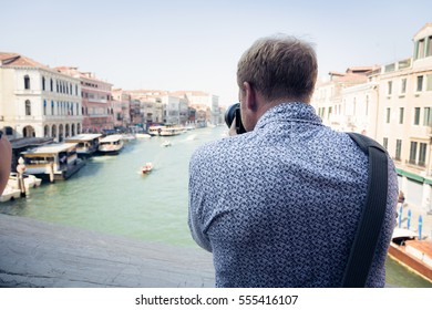 Tourist To Venice Taking Pictures