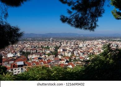 Tourist view point of Manisa city, from the hills of Spil mountain, Turkey
