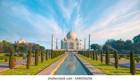 Tourist visit and travel in Taj Mahal - Agra, India