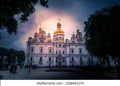 Tourist visiting Kiev Pechersk Lavra, at Kiev, Pechersk Raion, Ukraine, 05.05. 2016