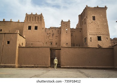 A tourist visits the Taourirt Kasbah at the town of Ouarzazate in south-central Morocco. The Kasbah Taouirirt was built in the early 19th century and was used as a base for the powerful el Glaoui clan