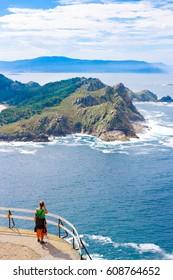 Touristic atlantic and natural park. island Cies, Galicia, Spain
