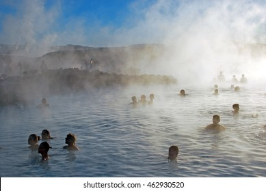 Touristic Blue Lagoon in iceland