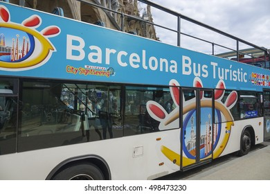 Touristic Bus - Barcelona Sightseeing - BARCELONA / SPAIN - OCTOBER 4, 2016