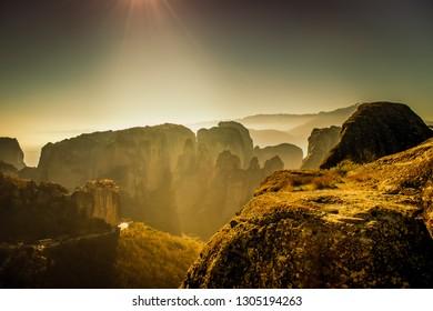 Meteorain centralGreece. A touristic destination.