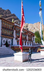 Touristic point in beautiful Hemis Monastery. The monastery also known as gompa is one of the top peaceful tourist point. Hemis Monastery is a beautiful attraction filled with colours in Leh Ladakh