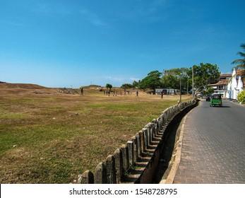 Touristic tour with tuktuk in green nature of Sri Lanka