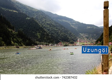 Touristic Uzungol Crater lake, Trabzon, Turkey