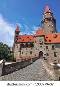 Touristically popular castle Bouzov in the Czech Republic.