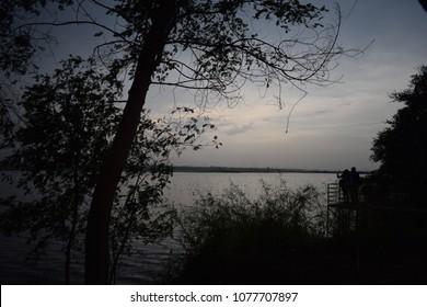 Tourists birding at Okhla Bird Sanctuary