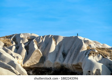 Tourists discover the magnificent Fairy Chimney formations in Cappadocia