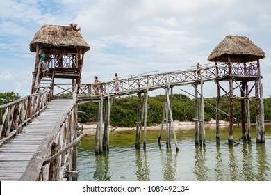 Tourists leave Bird Island in Isla Holbox, Mexico on Thursday, May 10, 2018.