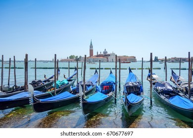 Tourists on water street with Gondola in Venice, ITALY
