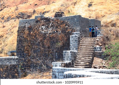 Tourists at Sinhagad fort, Pune, Maharashtra