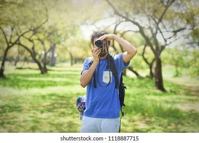 A tourist's taking photo