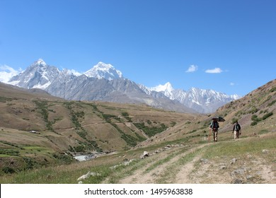 Tourists trekking to the Makra Peak. Makra is located at a height of 12,746 feet.  Although it can be straightforward to climb, deaths have occurred during storms and the fatality rate is 70%.
