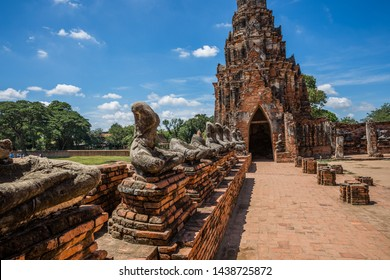 Tourists visit the ancient temple Wat Chaiwatthanaram located at Ayutthaya, Thailand.
