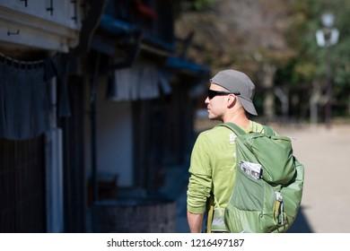 Tourists visiting Japan