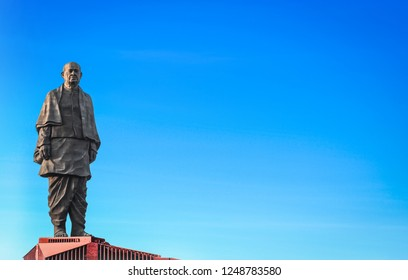 Tourists visiting the worlds tallest statue Statue of unity with a height of 182 metre of Sri Sardar Vallabhai Patel on November 10 2018 Gujarat India