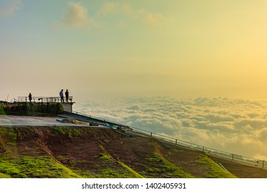 Tourists watch the sea of fog at Phu Tub Berk Phetchabun province Thailand.