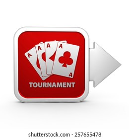 Tournament square icon on white background