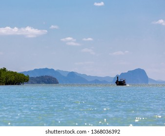 ฺฺBoat tours in mangrove forest at Koh Lanta, Krabi, Thailand.