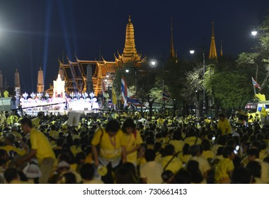 Tousends of Thai People at the ceremony of the coronation Day of the King Bhumibol on the Sanam Square Park in the city of Bangkok in Tahiland, Southeastasia, thailand, bangkok may 5, 2015.