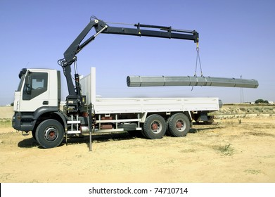 Tow truck, loading iron