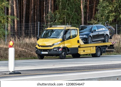 Tow trucks on the German motorway