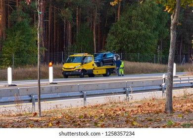 Tow trucks on the motorway