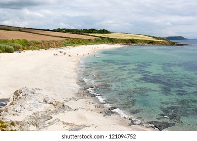 Towan Beach on the Roseland Peninsula Cornwall England UK