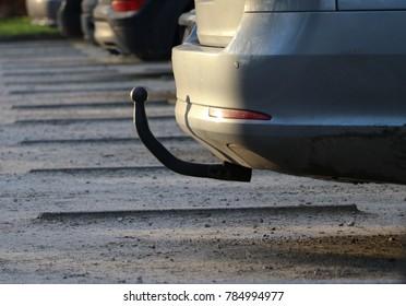 towbar on rear of car