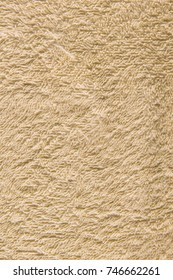 Towel brown background.