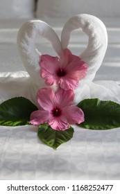 Towel Creation swans