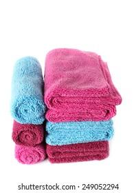 Towel isolated on white background