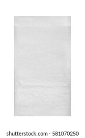 Towel isolated on white with copy space